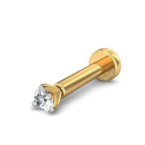 Ornaz 14Kt Yellow Gold Diamond Bella Nosepin