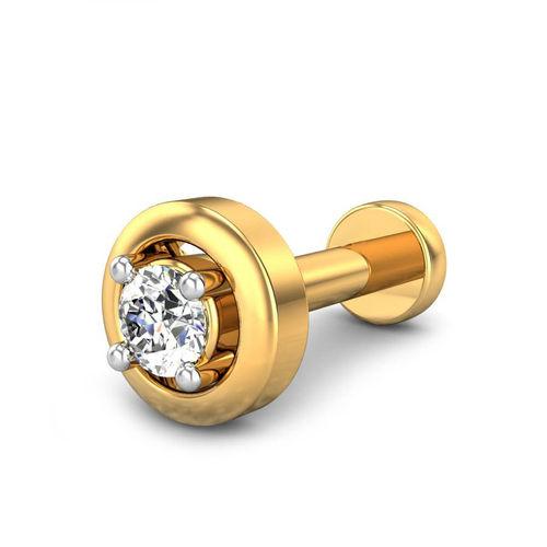 Ornaz 14Kt Yellow Gold Diamond Ixan Nosepin