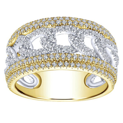 Ornaz 14Kt Yellow Gold Diamond Sifnas Engagement Ring