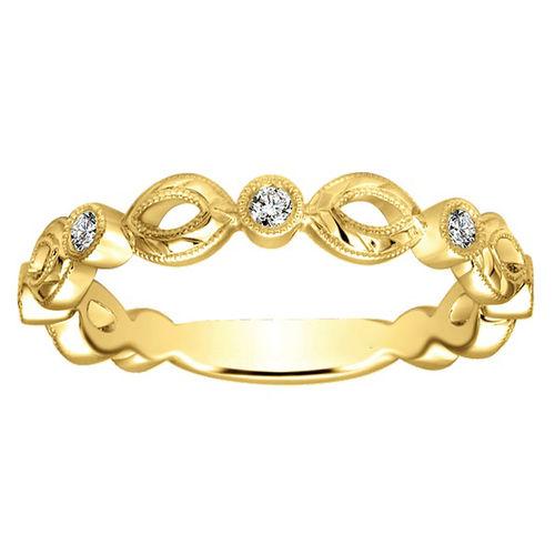 Ornaz 14Kt Yellow Gold Diamond Jolis Band