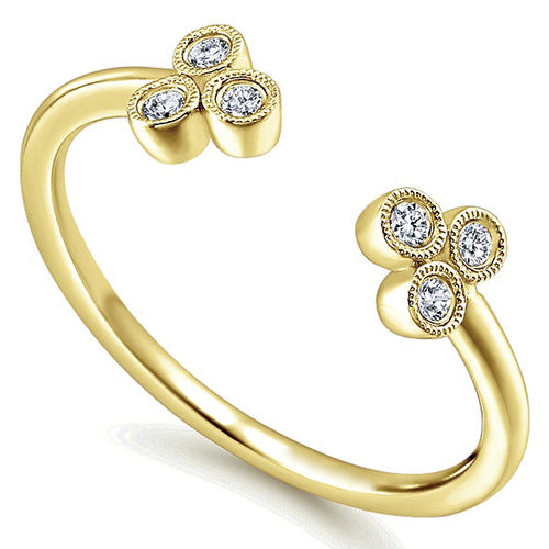 Ornaz 14Kt Yellow Gold Diamond Celesse Ring