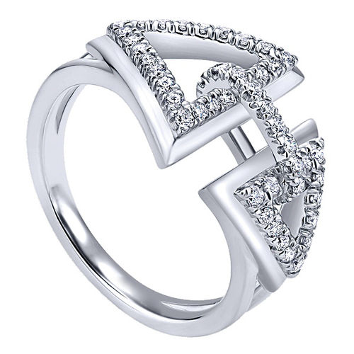 Ornaz 14Kt White Gold Diamond Anielo Ring