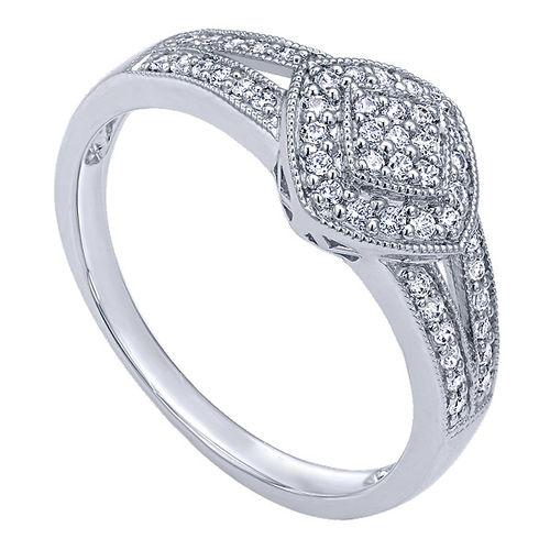 Ornaz 14Kt White Gold Diamond Bliss Engagement Ring