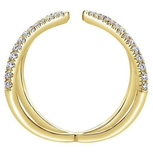 Ornaz 14Kt Yellow Gold Diamond Calmar Ring