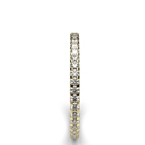 Ornaz 14Kt Yellow Gold Diamond Brooke Band