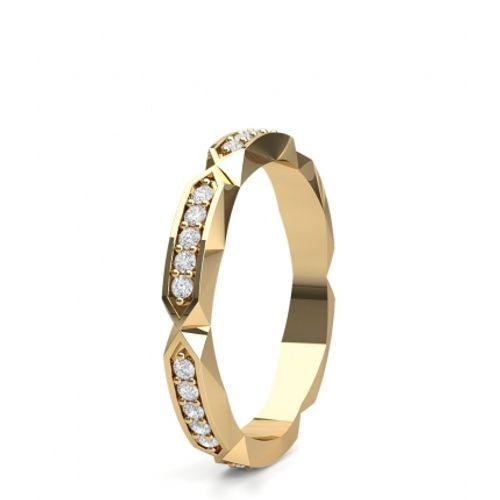 Ornaz 14Kt Yellow Gold Diamond Sifnas Band