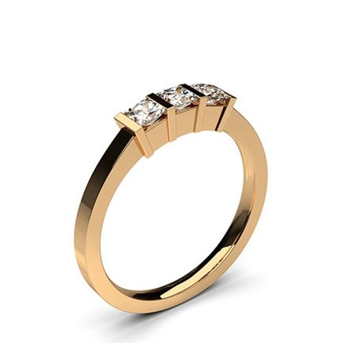 Ornaz 14Kt Rose Gold Diamond Colleta Ring