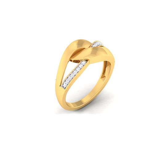 Ornaz 14Kt Yellow Gold Diamond Exina Ring