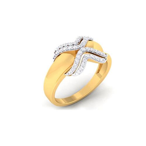 Ornaz 14Kt Yellow Gold Diamond Ayle Ring