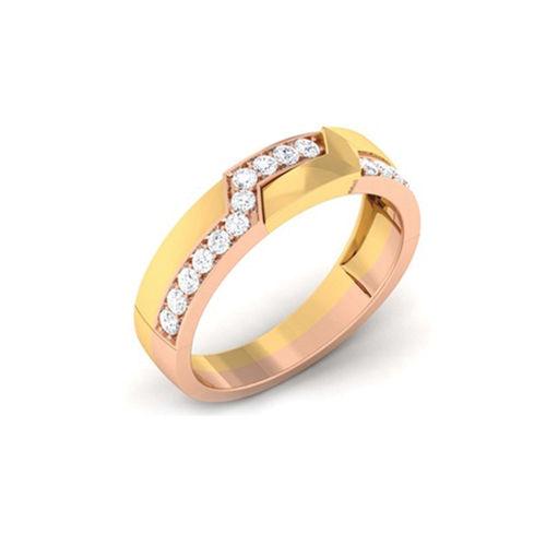 Ornaz 14Kt Yellow Gold Diamond Grand Master Men Ring