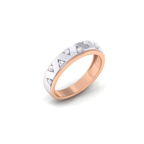 Ornaz 14Kt White Gold Diamond Cesco Men Ring