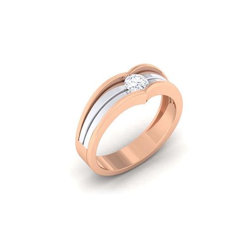 Ornaz 14Kt Rose Gold Diamond Marv Men Ring
