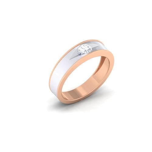 Ornaz 14Kt Rose Gold Diamond Oleva Men Ring