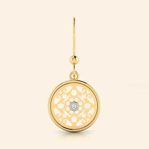 Ornaz 14Kt Yellow Gold Diamond Vilma Drop Earrings