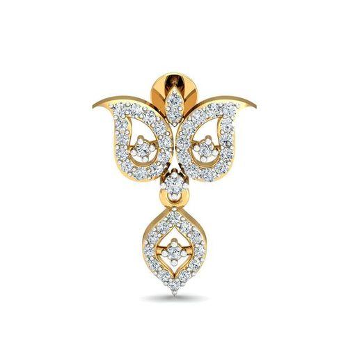 Ornaz 14Kt Yellow Gold Diamond Debra Drop Earrings