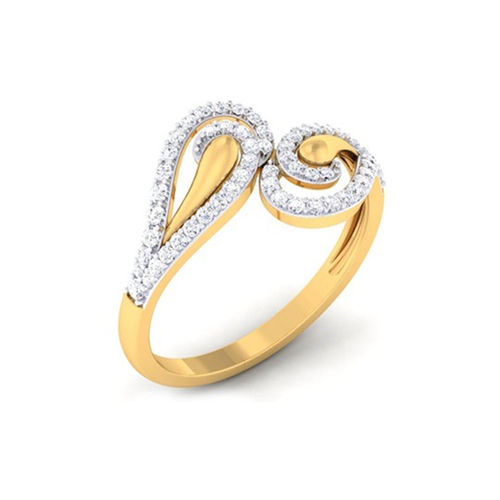 Ornaz 14Kt Yellow Gold Diamond Ryahii Ring