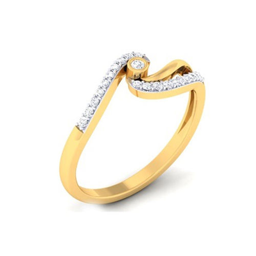 Ornaz 14Kt Yellow Gold Diamond Ilaria Ring