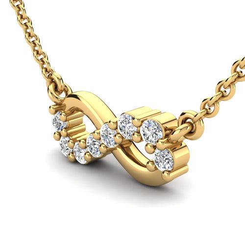 Ornaz 14Kt Yellow Gold Diamond Sera Pendant
