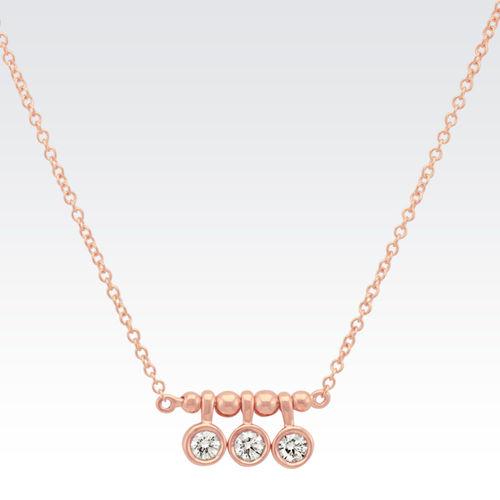 Ornaz 14Kt Rose Gold Diamond Sloan Pendant