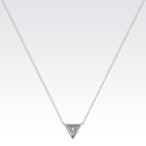 Ornaz 14Kt White Gold Diamond Johansson Pendant