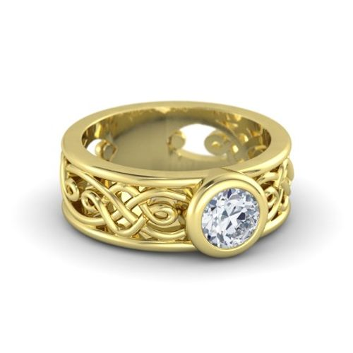 Ornaz 14Kt Yellow Gold Diamond Sophia Engagement Ring