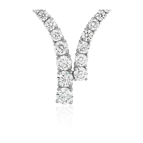 Ornaz 14Kt White Gold Diamond Austra Pendant