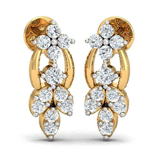Dishi 18Kt Yellow Gold Diamond Dhriti Drop Earrings