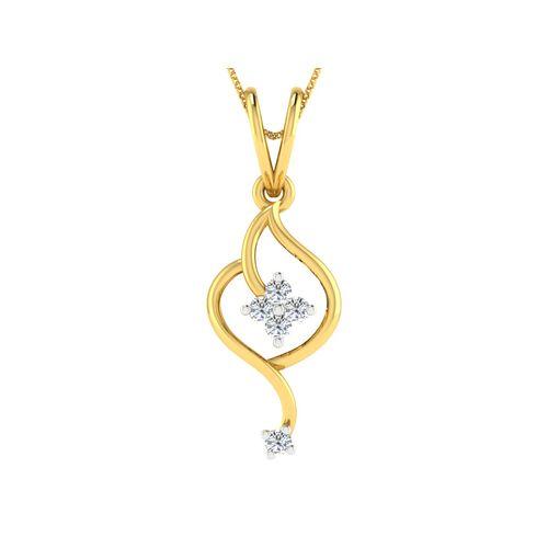 Dishi 18Kt Yellow Gold Diamond Adorable Pendant