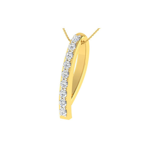 Dishi 18Kt Yellow Gold NAMYA Diamond Pendant