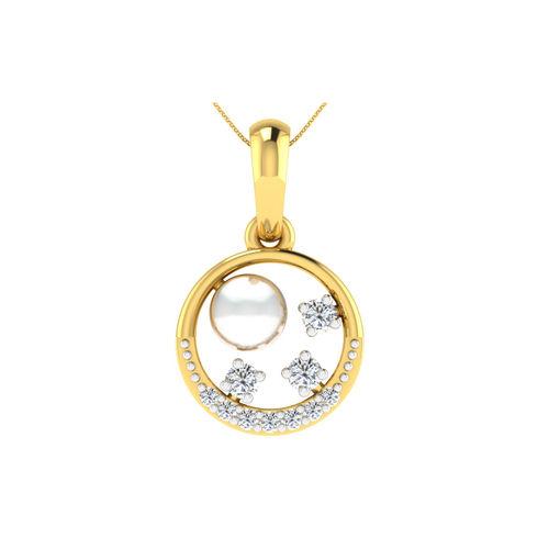 Dishi 18Kt Yellow Gold ERISHA Diamond Pendant