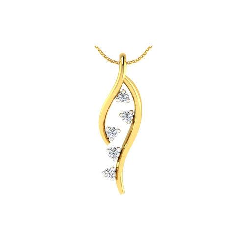 Dishi 18Kt Yellow Gold CHANDRIMA Diamond Pendant