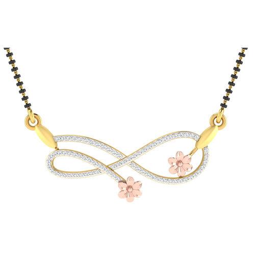 Dishi 18Kt Rose Gold RUPASHRI Diamond Mangalsutra