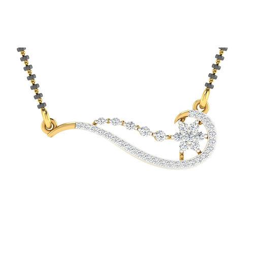 Dishi 18Kt Yellow Gold RAMITA Diamond Mangalsutra