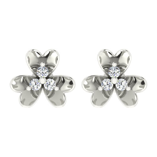 Dishi 18Kt White Gold SUNETRA Diamond Stud Earrings