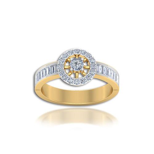 Dishi 18Kt Yellow Gold Wonderful Bahir Diamond Engagement Ring