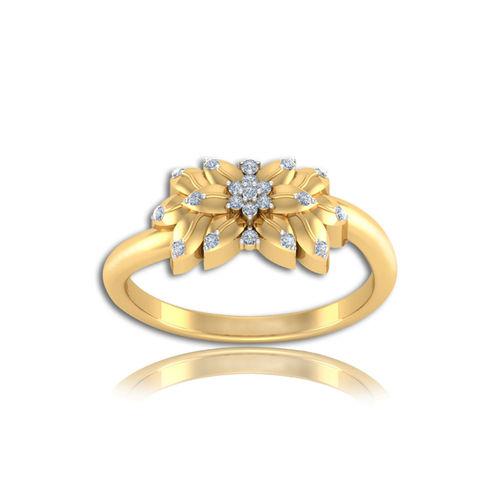 Dishi 18Kt Yellow Gold Adroable Ejaz Diamond Ring