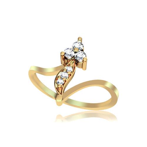 Dishi 18Kt Yellow Gold Dazzling Baslim Diamond Ring