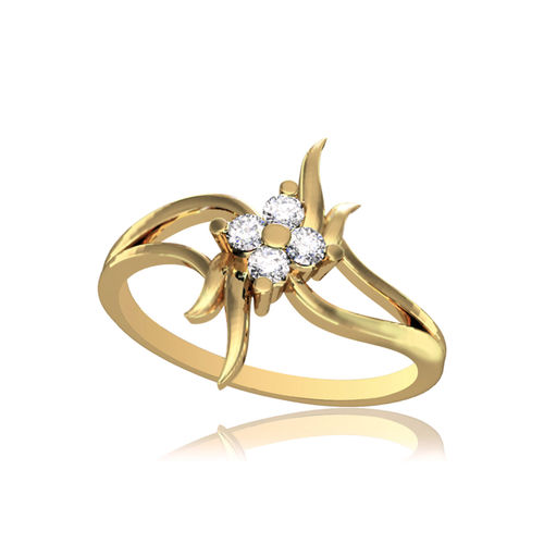 Dishi 18Kt Yellow Gold Lovely Aivina Diamond Ring