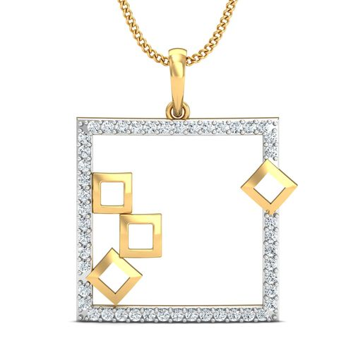 Dishi 18Kt Yellow Gold Diamond Turia Pendant