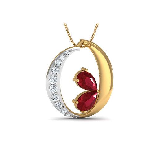 Dishi 18Kt Yellow Gold Diamond Gracious Pendant