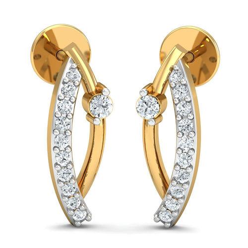 Dishi 18Kt Yellow Gold Diamond Fantasy Stud Earrings