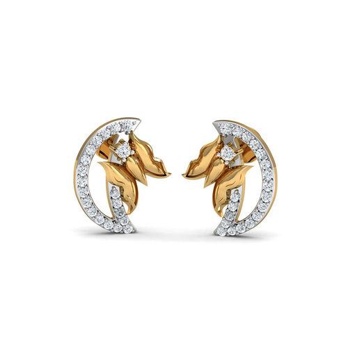 Dishi 18Kt Yellow Gold Diamond Effulgent Stud Earrings