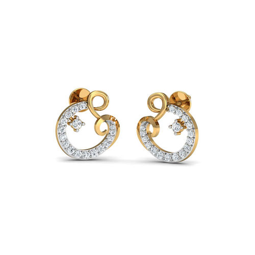 Dishi 18Kt Yellow Gold Diamond Dorish Stud Earrings