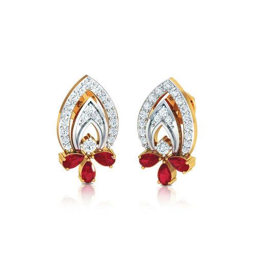 Dishi 18Kt Yellow Gold Diamond Vanika Stud Earrings