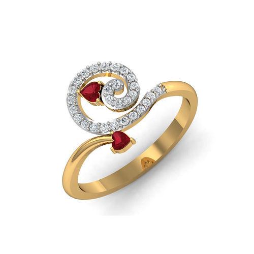 Dishi 18Kt Yellow Gold Diamond Blossoms Ring