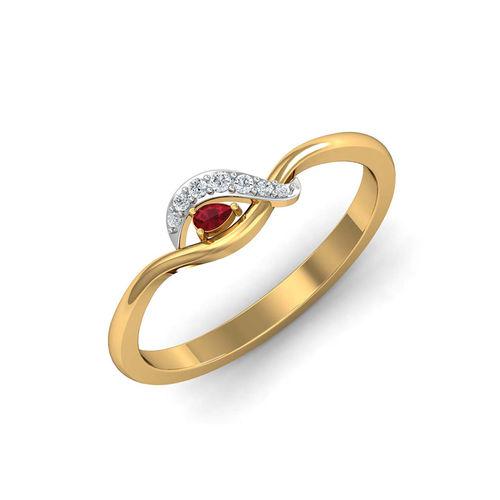 Dishi 18Kt Yellow Gold Diamond Dazzling Neyha Ring