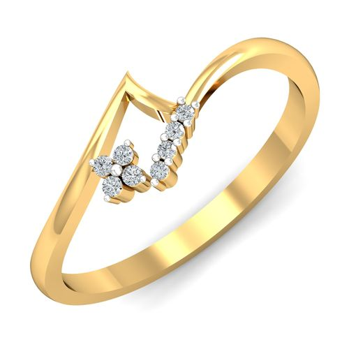 Dishi 18Kt Yellow Gold Diamond Affectionate Ring