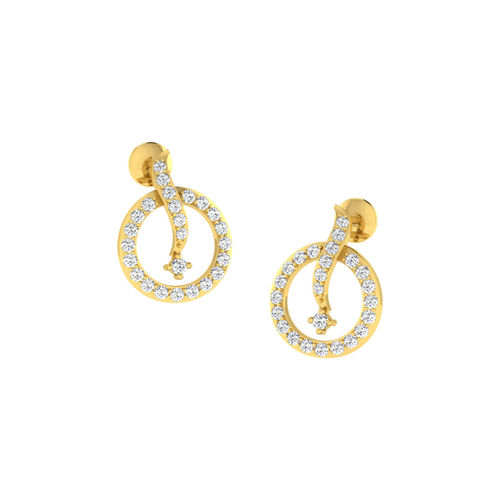 Dishi 18Kt Yellow Gold Diamond Naaz Stud Earrings