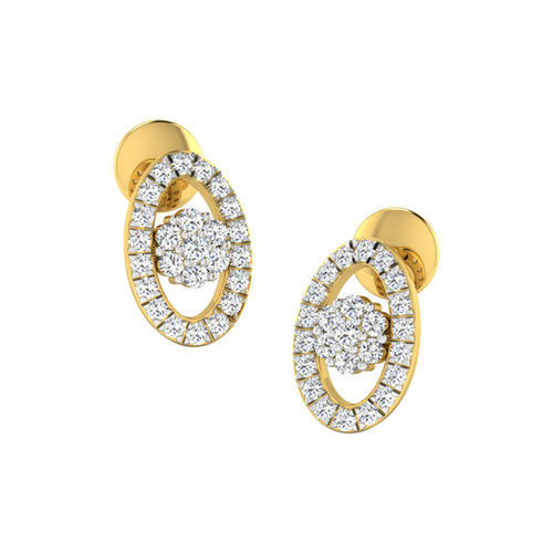 Dishi 18Kt Yellow Gold Diamond Elite Stud Earrings