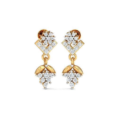 Dishi 18Kt Yellow Gold Diamond Gorgeous Eka Drop Earrings